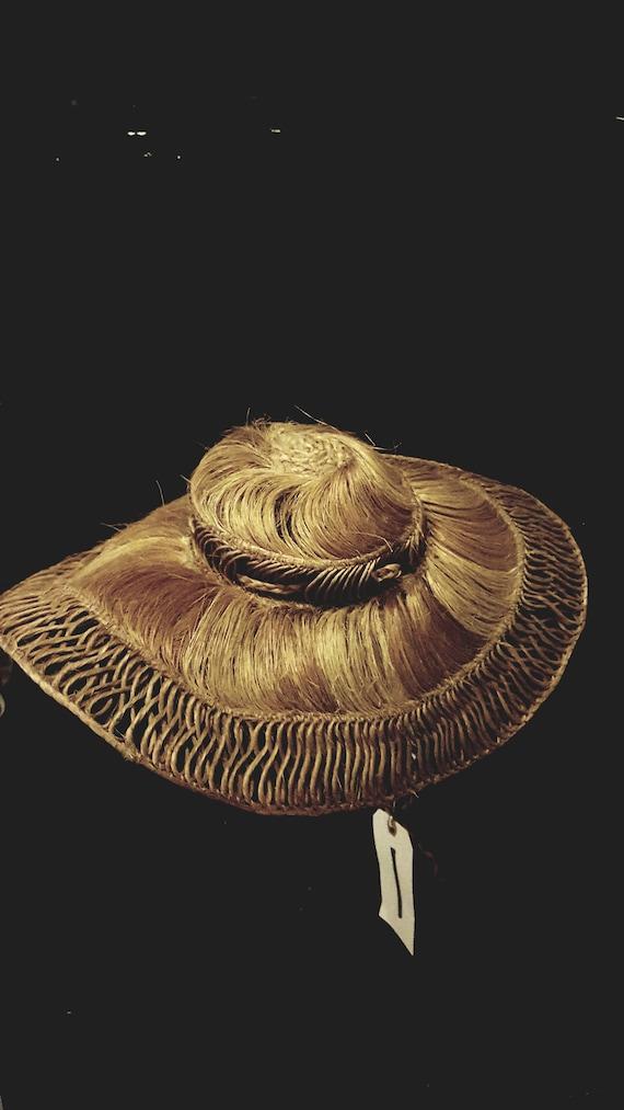 1940s Vintage Straw Hat