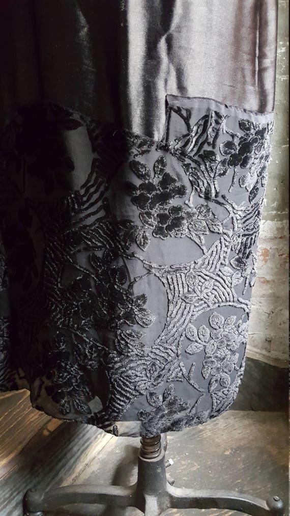 1920's vintage Edwardian Tunic dress-cut-velvet w… - image 7