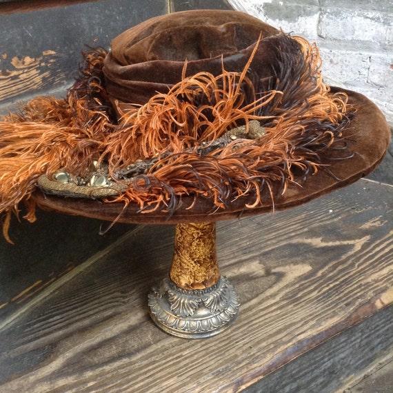 Plumed Edwardian Hat