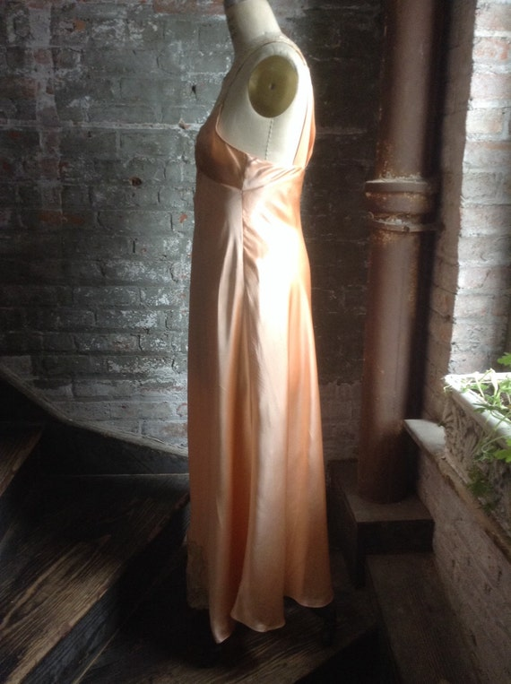 Silk charmeuse peaches and cream vintage nightgown - image 5