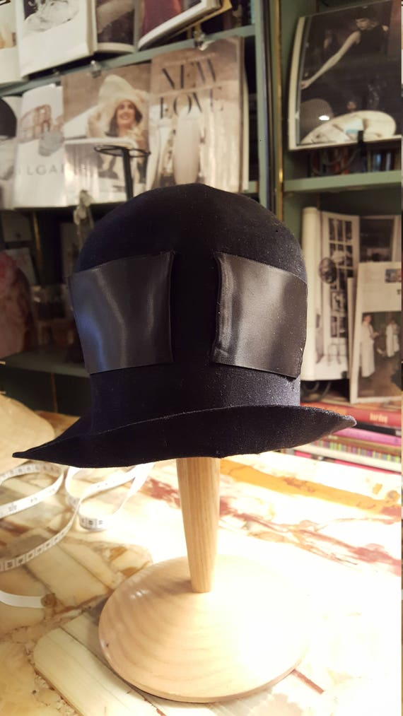 1920s Black Felt Hat