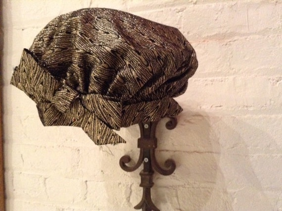 Black and gold Brocade beret - image 2