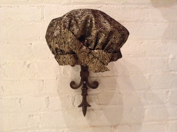 Black and gold Brocade beret