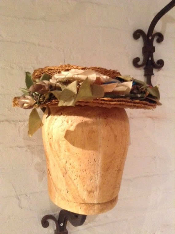 vintage Women's Hat - victorian Straw - image 2