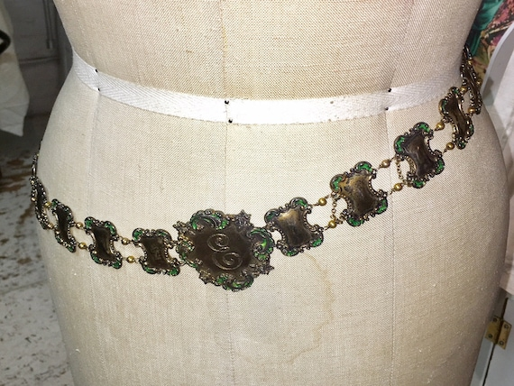 1940s Jeweled Belt
