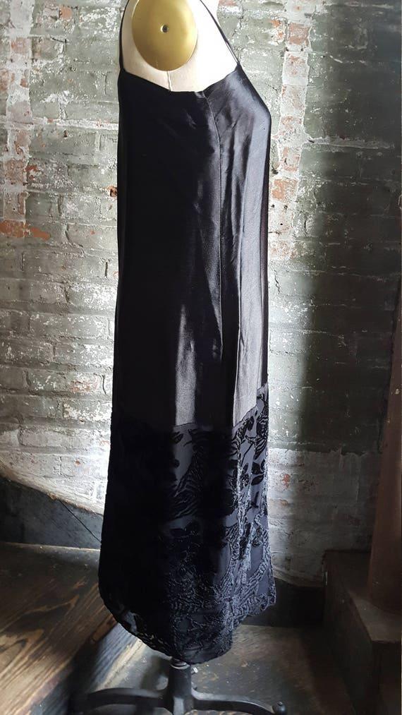 1920's vintage Edwardian Tunic dress-cut-velvet w… - image 6
