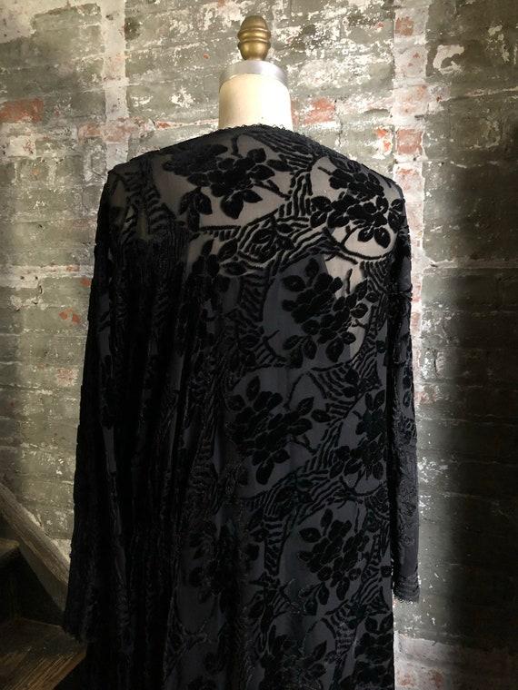 1920's vintage Edwardian Tunic dress-cut-velvet w… - image 2
