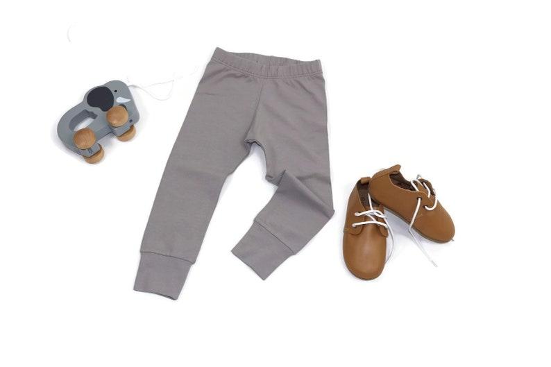 c04f6aac973c8 Solid GREY babytoddler leggings or baggy's minimal | Etsy
