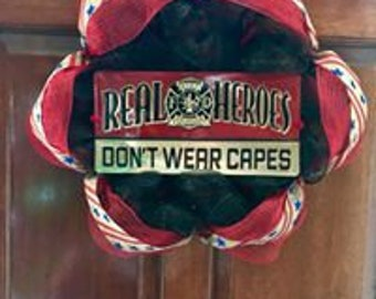 Fire Fighter Wreath