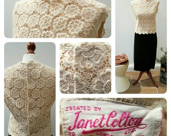 Vintage Blouse Created by Janet Colton, London, England