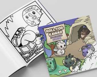 DnD Coloring Book   Roll For Kawaii   Original Coloring Book