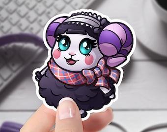 Animal Crossing Sticker   Bob the Cat   New Horizons   Original Artwork Sticker   Laptop Cute Sticker