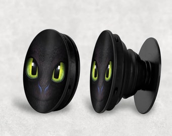 Toothless Inspired Circular Phone Stand