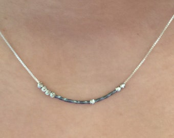 "HOPE Sterling Silver Morse Code ""Hope"" Necklace"