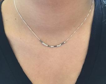 "BRAVE Sterling Silver Morse Code ""Brave"" Necklace"