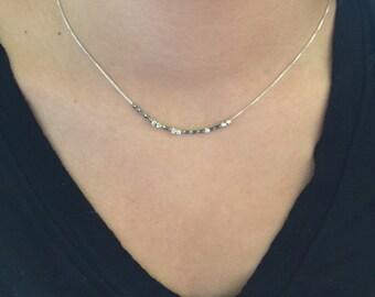 "GRACE Sterling Silver Morse Code ""Grace"" Necklace"