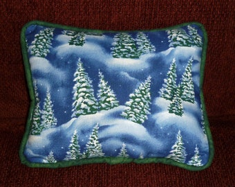 Winter Pines...decorative pillows filled with dried balsam tips....the fresh scent of woodland and forest.  Makes a delightful gift!