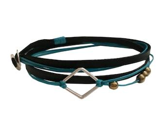 Silver Wrap bracelets |Geometric bracelet|Silver rhombus|Minimalist bracelet|DEsigner bracelet|Unusual