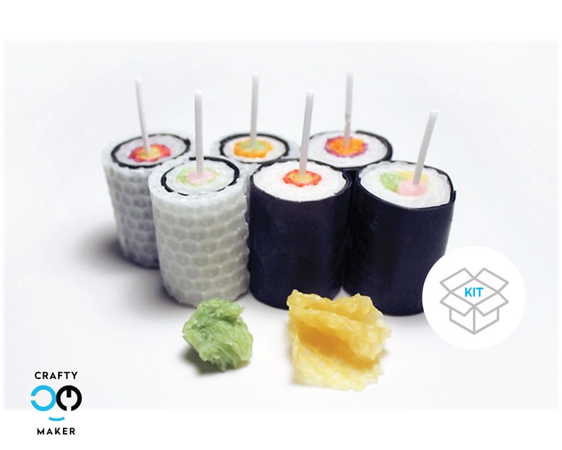 Sushi Rolls Candle Making Kit | Candle Making Supplies | Candle Kit |  Candle Supplies | Candle Making | DIY Crafts | Do It Yourself
