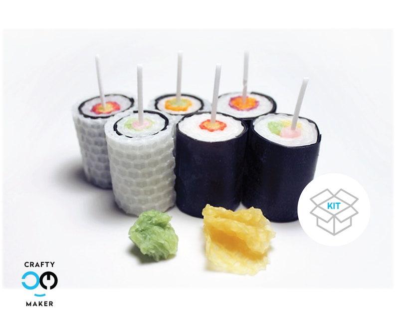 Sushi Rolls Candle Making Kit  Candle Making Supplies  image 0