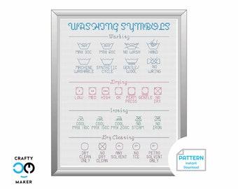Laundry Rules Cross Stitch Pattern | Laundry Room Decor | Cross Stitch Pattern | Cross Stitch Project | Laundry Room Art