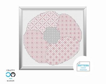 Poppy Blackwork Pattern | Remembrance Day  | Lest We Forget | Remembrance Design | Home Decor