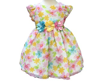 Sweet Cotton Dress 0-3 Months. Girls' Clothing (0-24 Months) pw