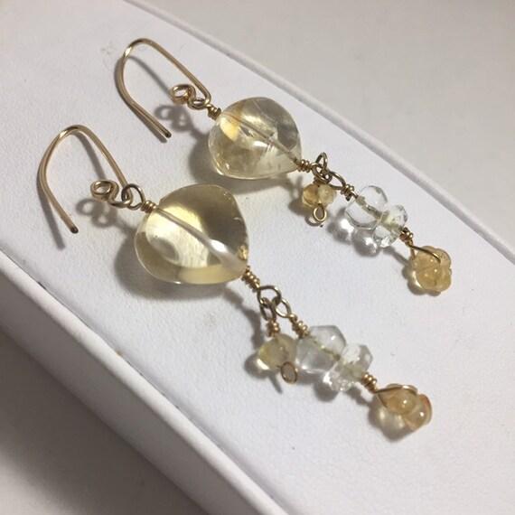 Citrine Beads, Light Yellow, 7.8mm Round | Citrine beads ... |Light Yellow Gemstone Earrings
