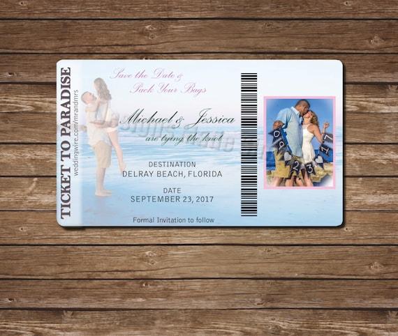 Destination Wedding angepassten Bordkarte Save the Date zum