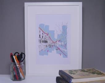 Brighton Art Print, Print, Brighton, Digital Print