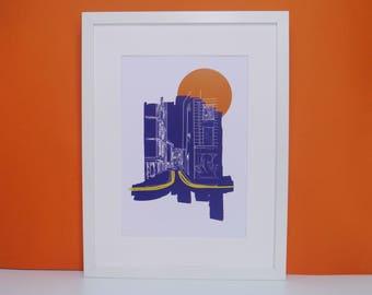 Brighton Print, Art Print, Digital Print, A4