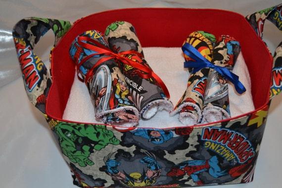 71ca43b0d0 Avengers Baby Gift Basket Superhero Fabric Gift Basket