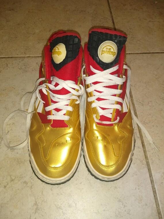 Reebok The Pump Gold Size 9 Florida State San Fran