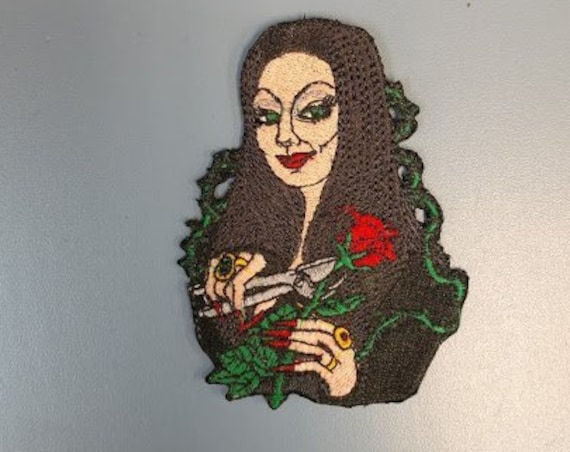Witch Embroidered Patch, Iron On TV Classic Female Patch