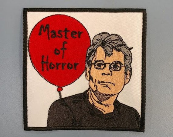Horror Master Author Embroidered Patch, King Fan Iron On Patch, Great American Literature Patch, Book Nerd Patch