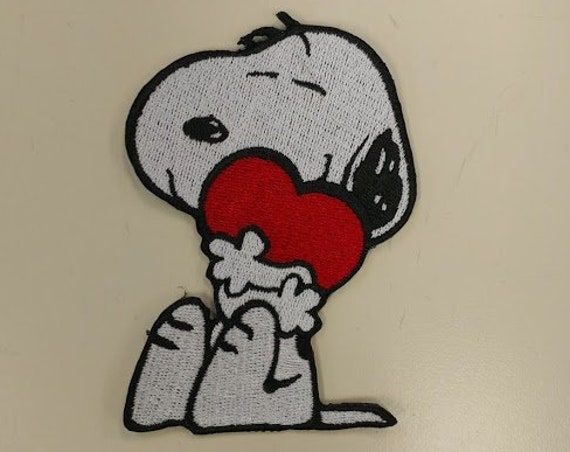 Valentine Dog Patch, Cartoon Beagle Heart Patch, Cute Puppy Patch