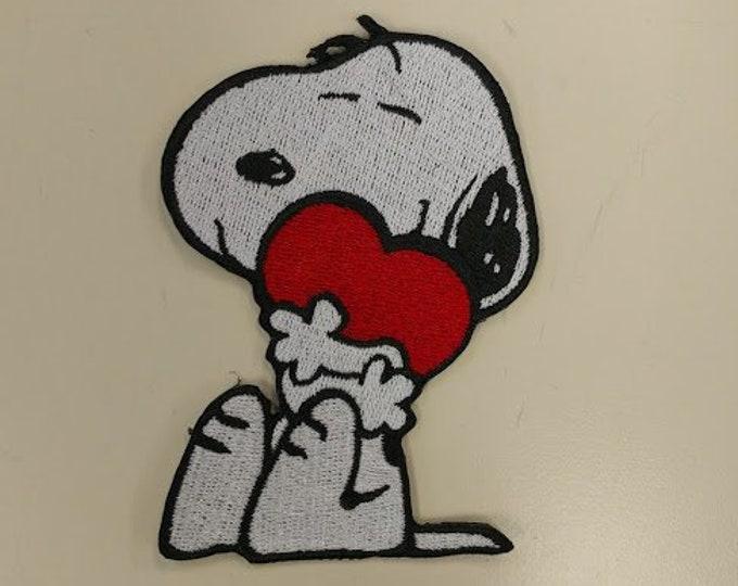 Valentine Dog Patch, Cartoon Beagle Heart Patch, Cute Puppy Patch