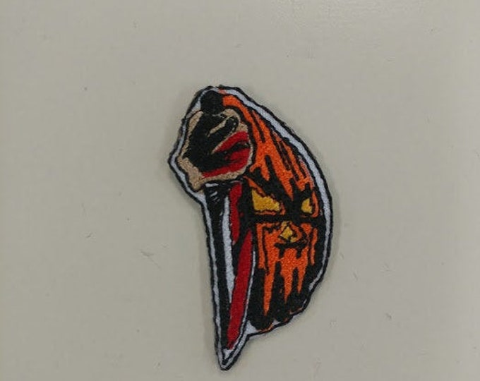 Halloween Scary Embroidered Patch, Killer Iron On Patch