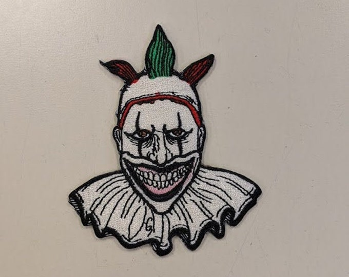Scary Killer Clown Embroidered Patch