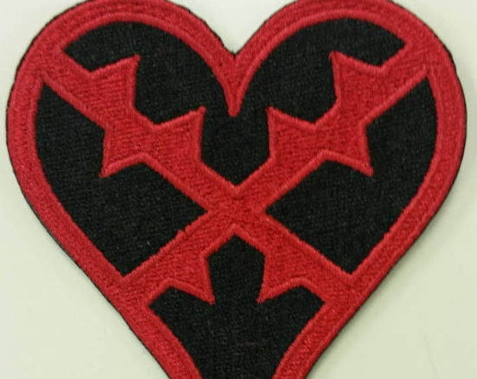 Heartless Video Game Inspired Embroidered Patch,  Heartless Iron on patch, Gamer patch