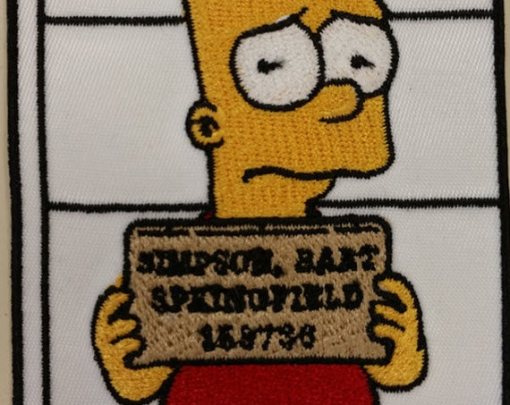 Cartoon Bad Boy Mugshot Patch, Embroidered Cartoon Favorite Patch, Iron On Classic Cartoon Patch