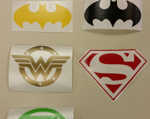 Superhero Car Decals, Superhero Vinyl Decals Laptop, Superhero Inspired Decals