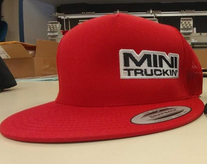 Lowrider Snapback Style Embroidered Hat, Mini Trucks Mesh Back Hat