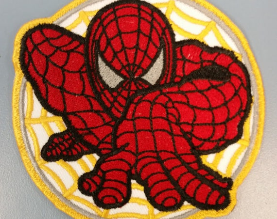 Superhero Embroidered Patch,  Spider Guy iron on patch,  Comic Hero Embroidered patch