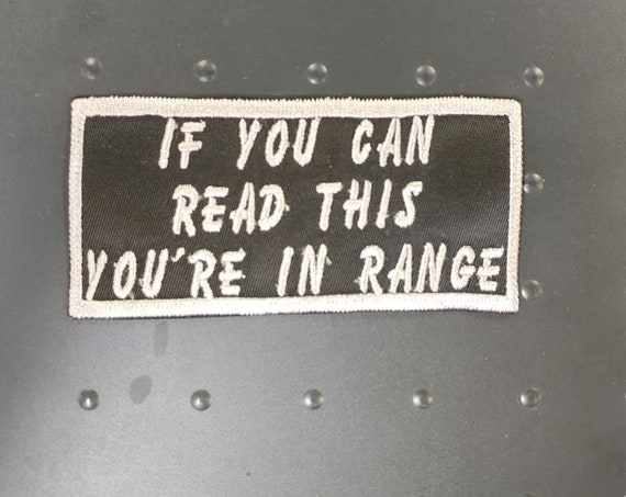 If you can read this motorcycle tag patch, Iron on Patch, Embroidered Motorcycle Patch