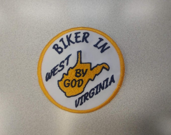 West Virginia Biker Motorcycle Rider Embroidered Patch