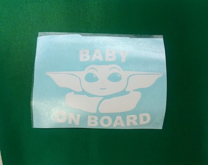 Baby Alien On Board Decal