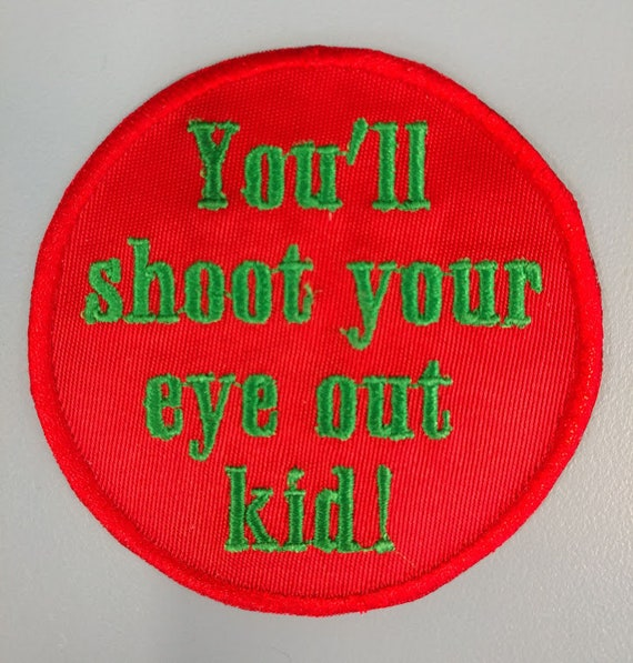 Christmas Movie Saying Iron On Patch, Embroidered Christmas Patch