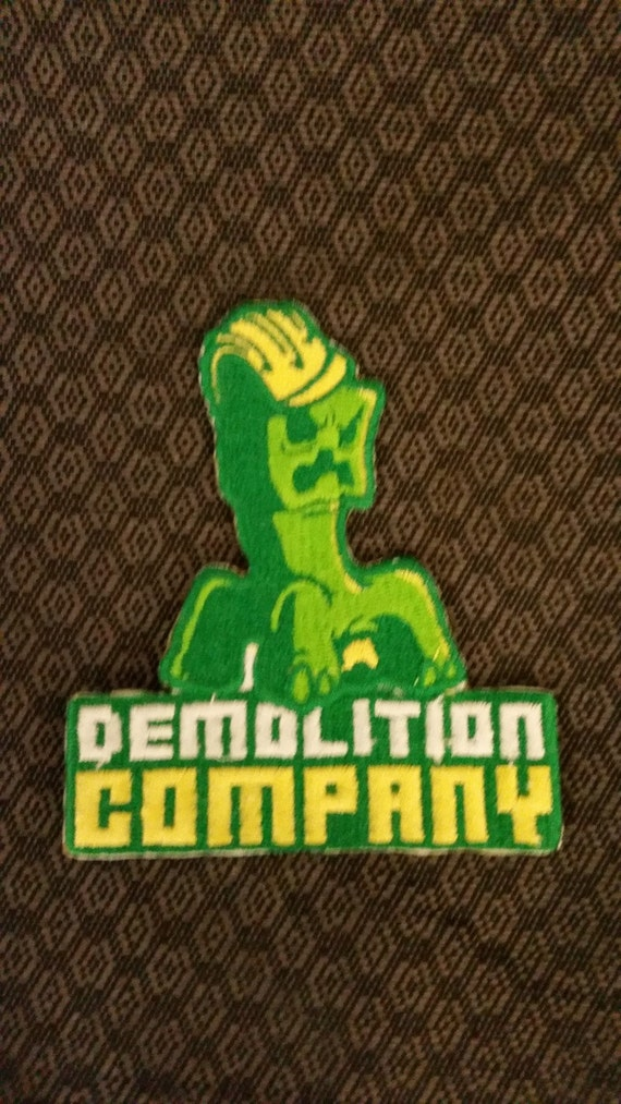 Demolition Crew Embroidered Patch, Block Video Game Inspired Patch, Destroyer Patch, Demolition Company Patch, Iron On Video Game Patch
