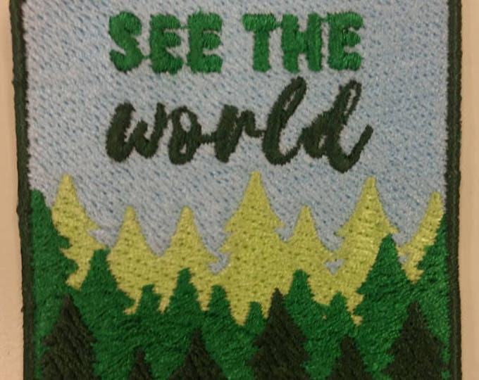 Adventure Embroidered Patch, Outdoor Living Patch, See the World Iron On Patch, Hiking Patch, Adventure Lovers Patch